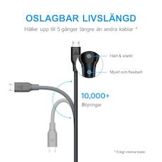 Anker PowerLine Mikro-USB kabel, 90cm