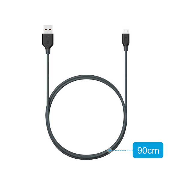 Anker PowerLine mikro-USB kabel 90cm