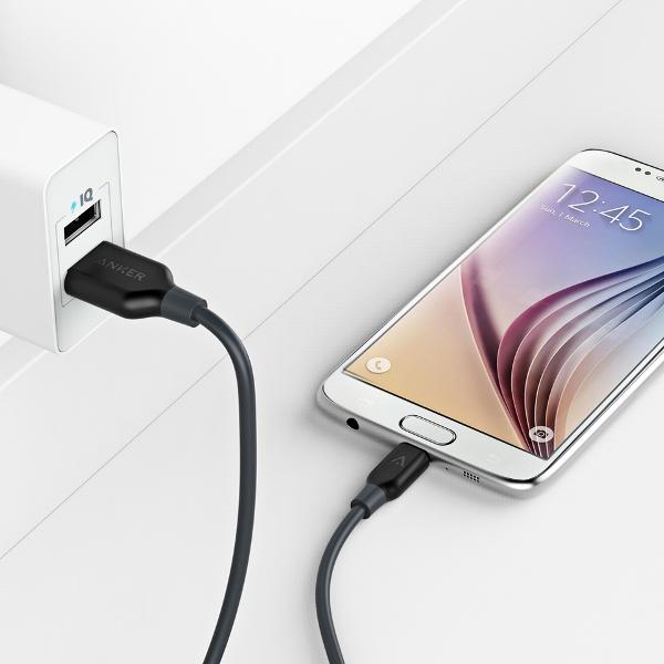 Anker PowerLine mikro-USB kabel för synk och laddning