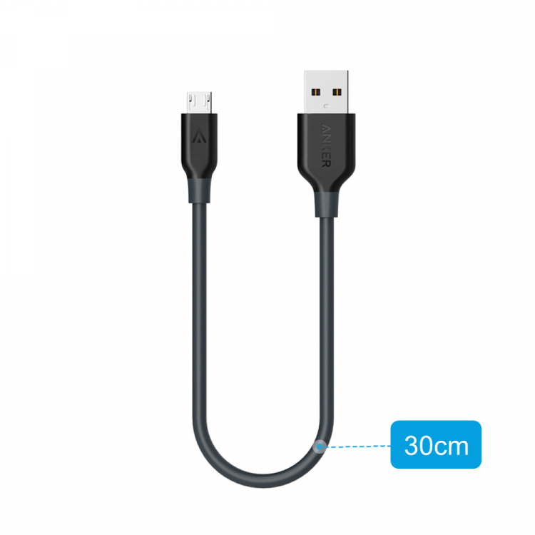 Anker PowerLine mikro-USB kabel, 30cm