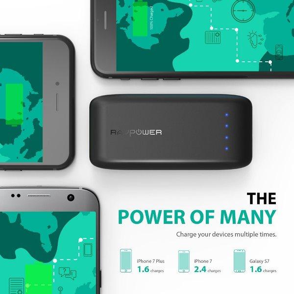 RAVPower 6700mAh Pocket powerbank laddar snabbt