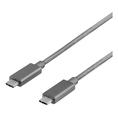 USB-C till USB-C USB3.1 Gen 2 kabel, 1m - svart