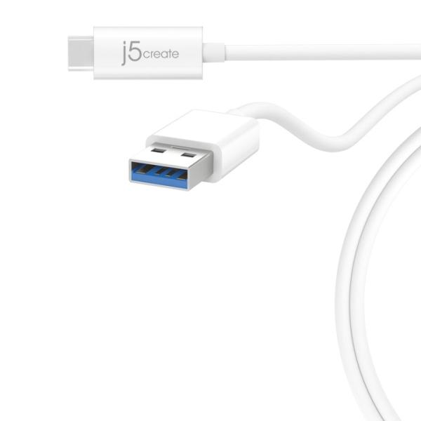 j5create USB-C - USB-A synk- och laddkabel, 90cm