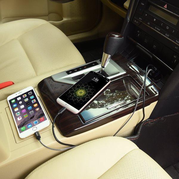 Choetech mobilladdare för bilen med QC 3.0  i bilen
