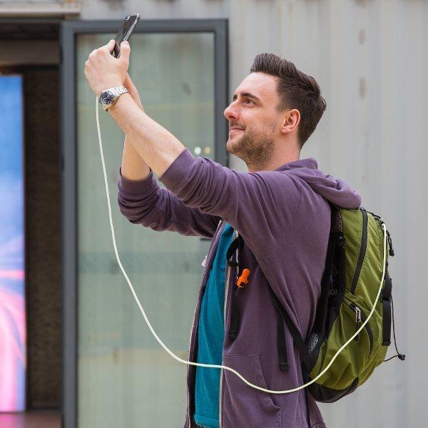 Anker PowerLine Lightning USB kabel - vit, 180cm från väskan till telefonen
