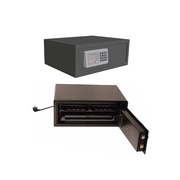 Datorskåp för stöldsäker förvaring av 2 laptops eller 4 iPads/surfplattor