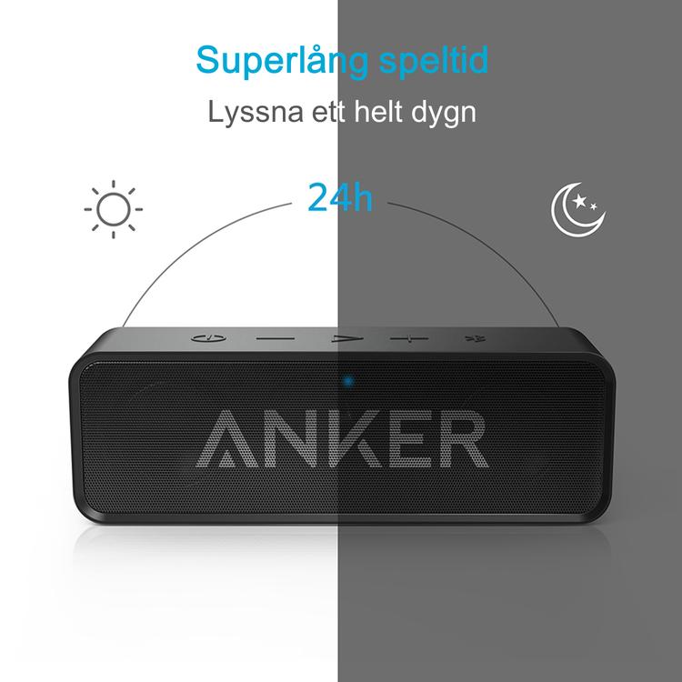 Anker SoundCore bluetooth-högtalare med 24 timmars speltid