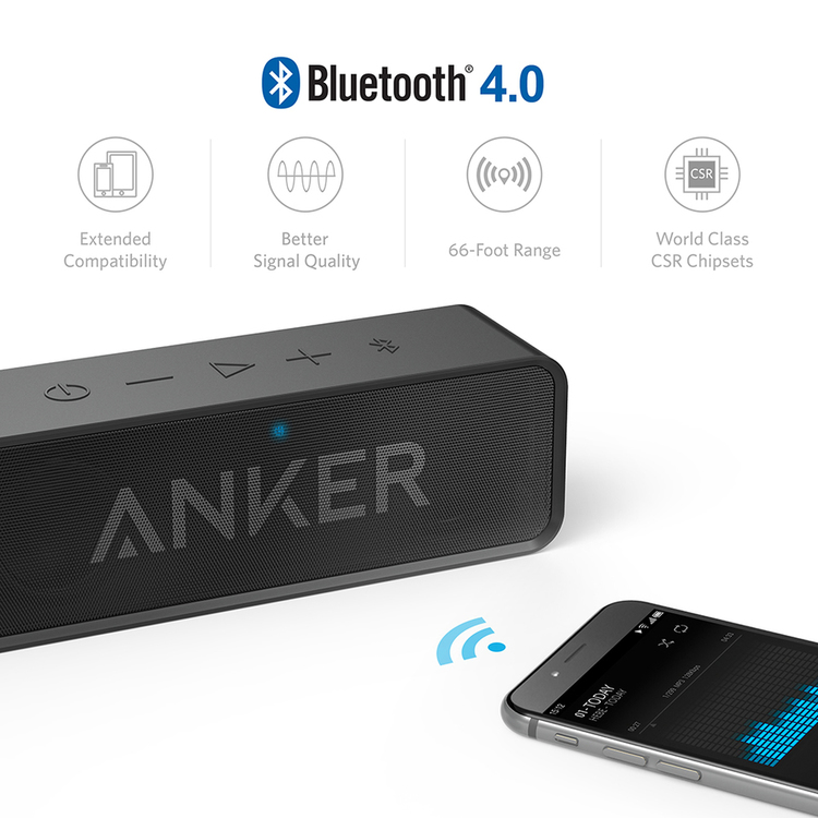 Anker SoundCore bluetooth-högtalare med bluetooth 4.0