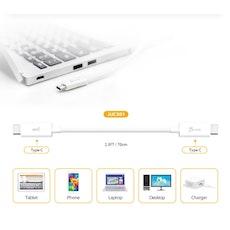 j5create USB-C till USB-C kabel, 100W, 70cm