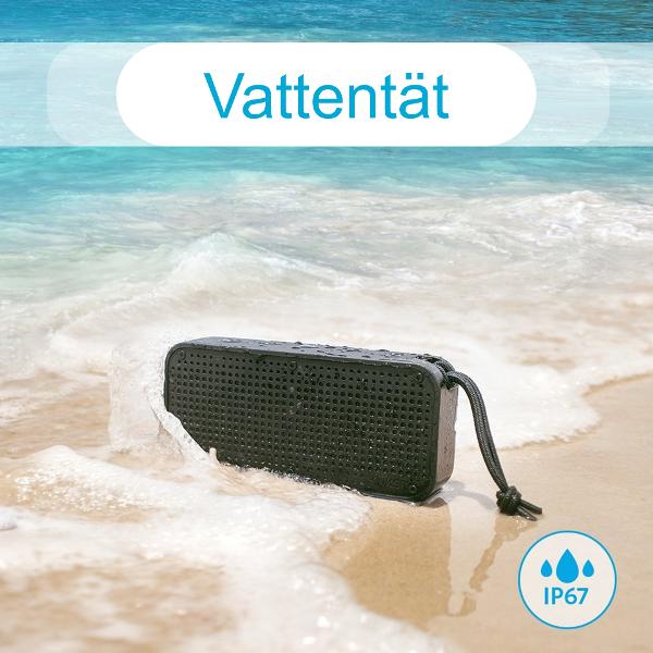 Anker SoundCore Sport XL bluetooth högtalare på stranden - tål vatten