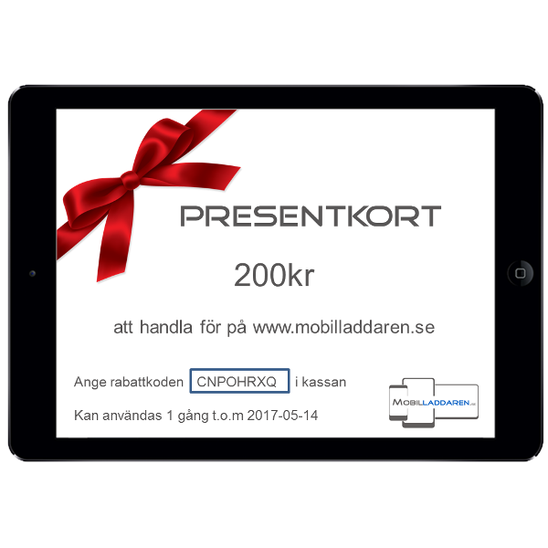 Presentkort på mobilladdaren.se - 200kr
