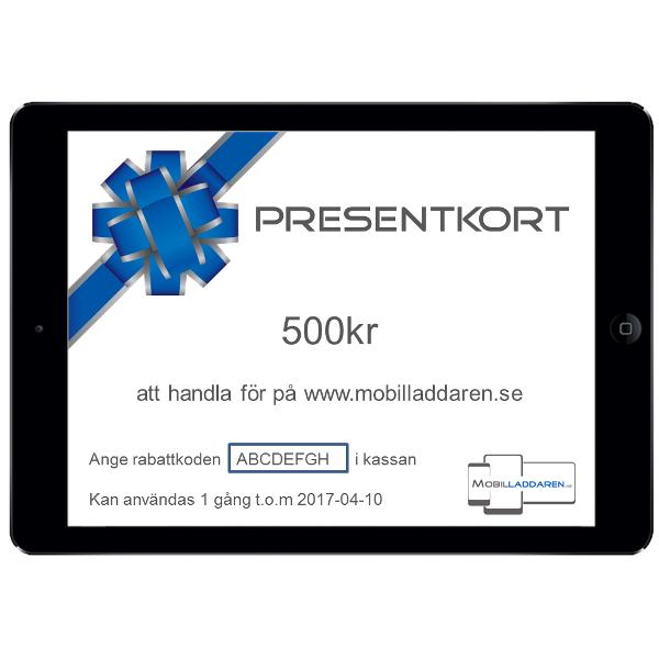 Presentkort på mobilladdaren.se - 500kr