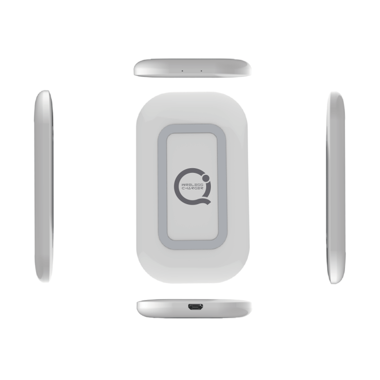 Q23 Qi trådlös laddare - ovanifrån och sidor