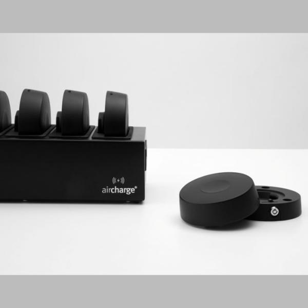 Aircharge trådlös laddare med batteri - laddare och laddningsdocka