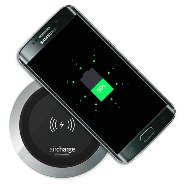 Trådlös laddare svart krom laddar Samsung