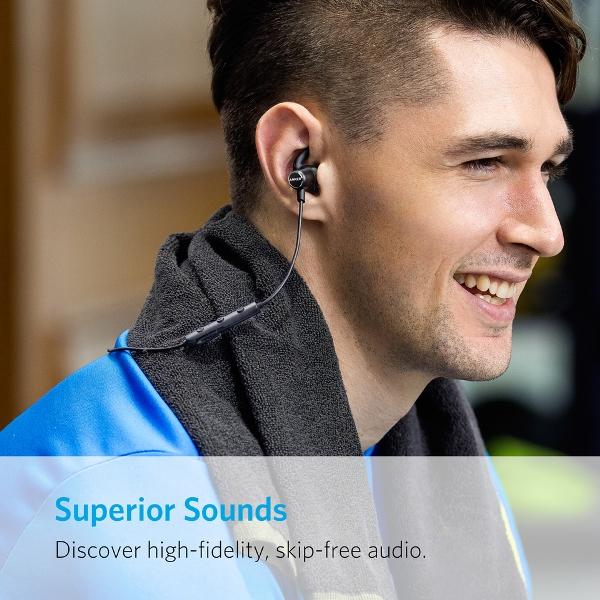 Anker SoundBuds Slim bluetooth hörlurar med bra ljudkvalitet