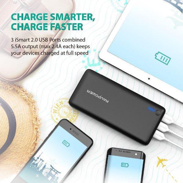 RAVPower 26800mAh powerbank Mobilladdare och powerbanker för alla mobiler