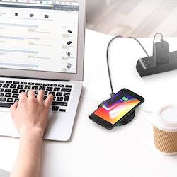 RAVPower snabb Qi trådlös laddare för iPhone & Galaxy