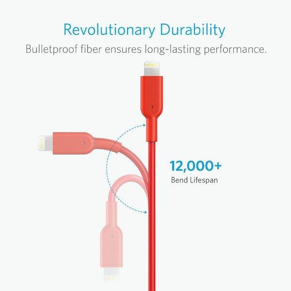 Anker PowerLine II Dura 180cm röd lång livslängd