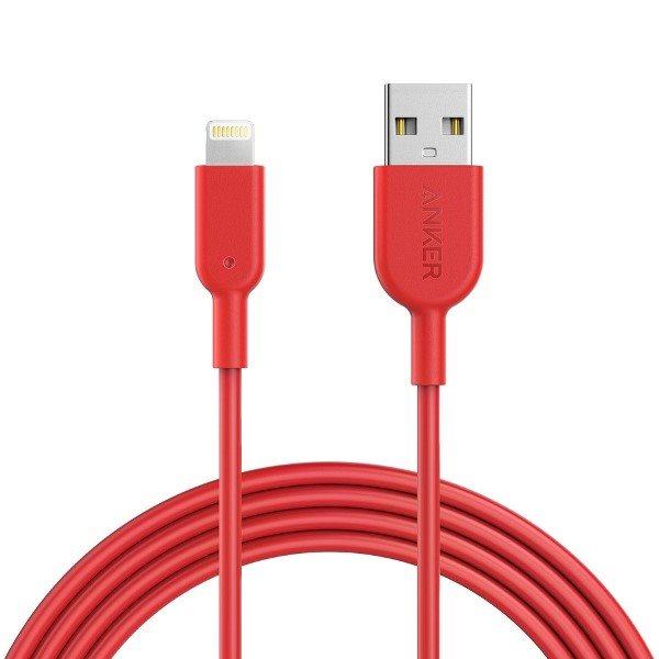Anker PowerLine II Dura 180cm röd