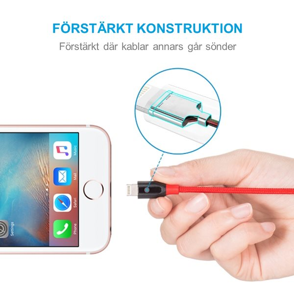 Anker PowerLine plus Lightning för Apple - stark