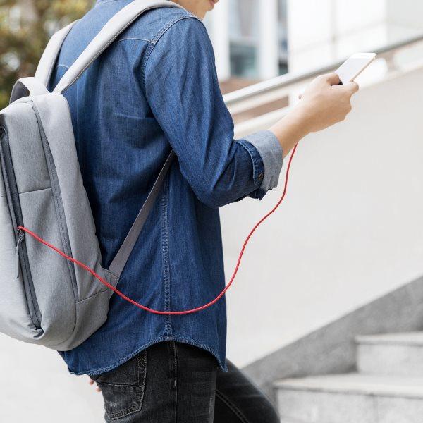 Anker PowerLine plus Lightning röd från väska