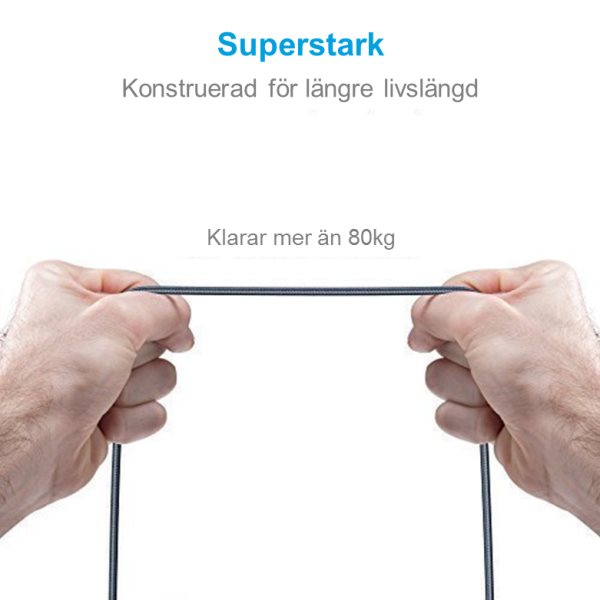 Anker PowerLine+ Lightning kabel för Apple - superstark
