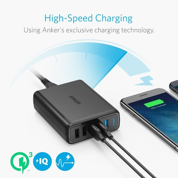Anker PowerPort Speed 5 - Mobilladdare med Quick Charge - för snabb laddning