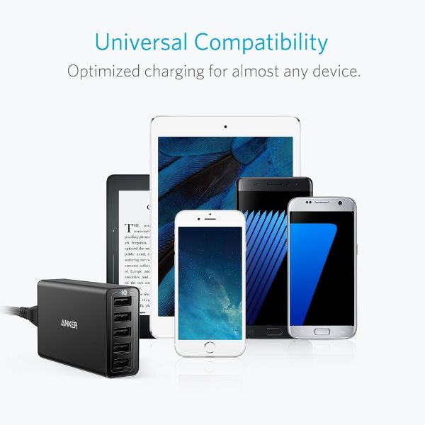 Anker Powerport 5 mobilladdare laddar alla möjliga telefoner