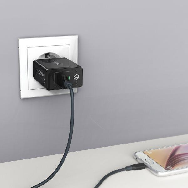 Anker PowerPort+ 1 - Quick Charge mobilladdare i vägguttag