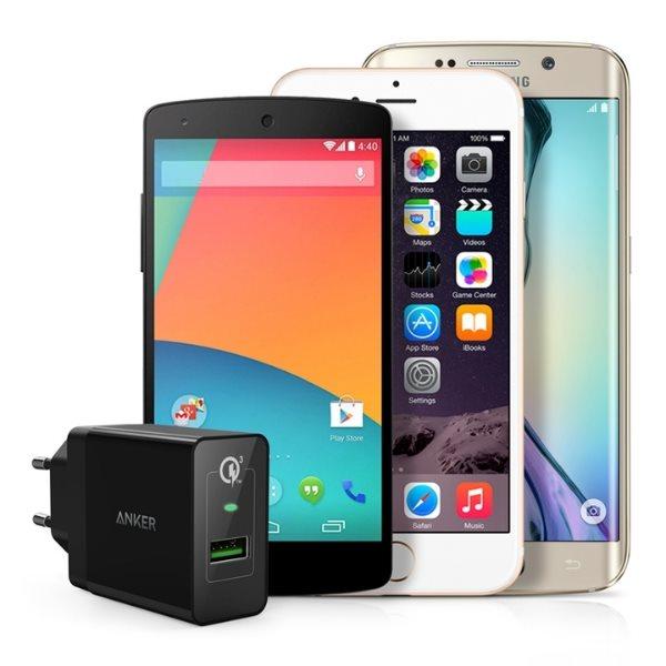 Anker PowerPort+ 1 - Quick Charge mobilladdare laddar alla mobiltelefoner