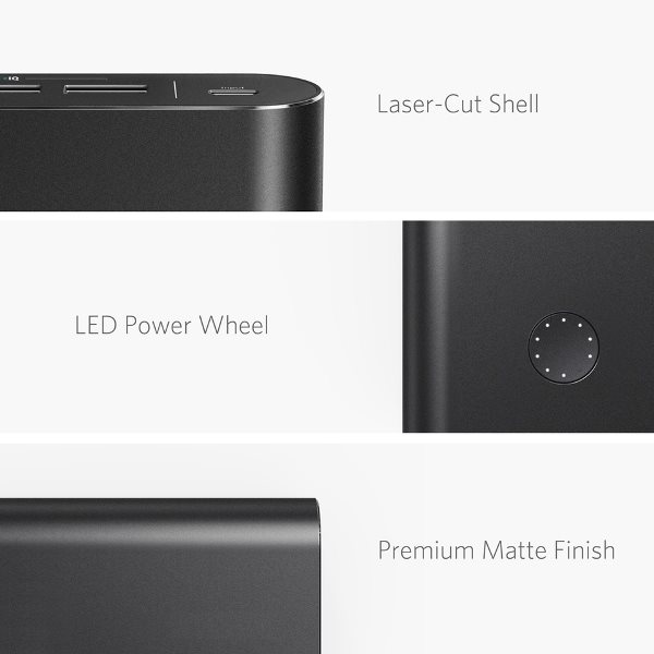 Anker PowerCore+ 26800mAh QC 3.0 powerbank detaljer