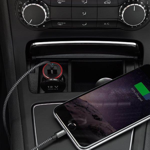 Anker PowerDrive 2 svart mobilladdare för bilen