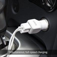 Anker mobilladdare för bilen med 2 uttag
