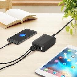 RAVPower mobilladdare - 4 uttag & QC 3.0