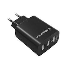 RAVPower mobilladdare med 3 uttag
