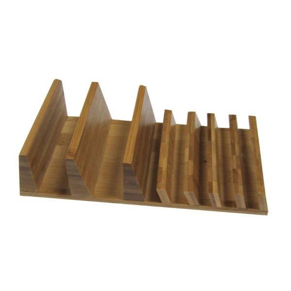 Bambuställ för 7 mobiltelefoner och surfplattor