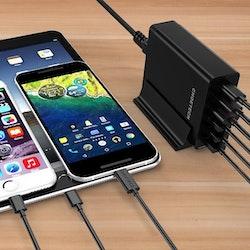 Choetech mobilladdare med 2 USB-C och 4 USB-A