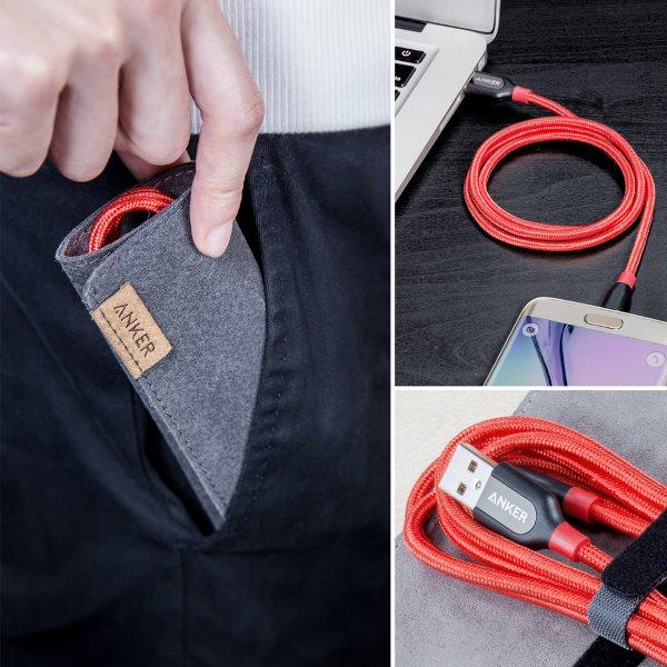 PowerLine+ mikro-USB kabel med ficka