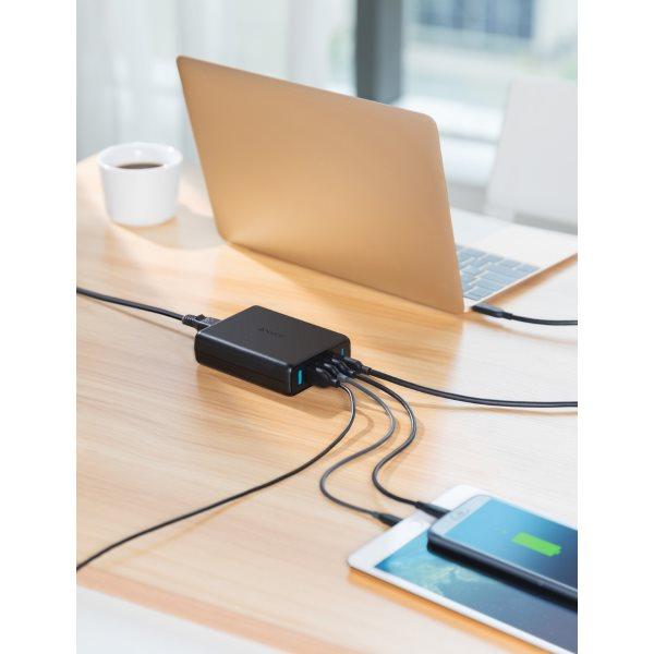 Anker PowerPort Speed Power Delivery 5 mobilladdare laddar telefoner surfplattor, datorer