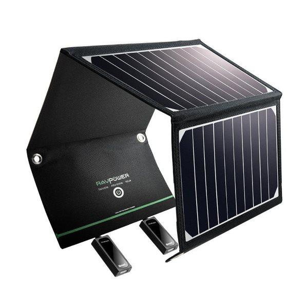 RAVPower Solcellsladdare 16W och 2 uttag