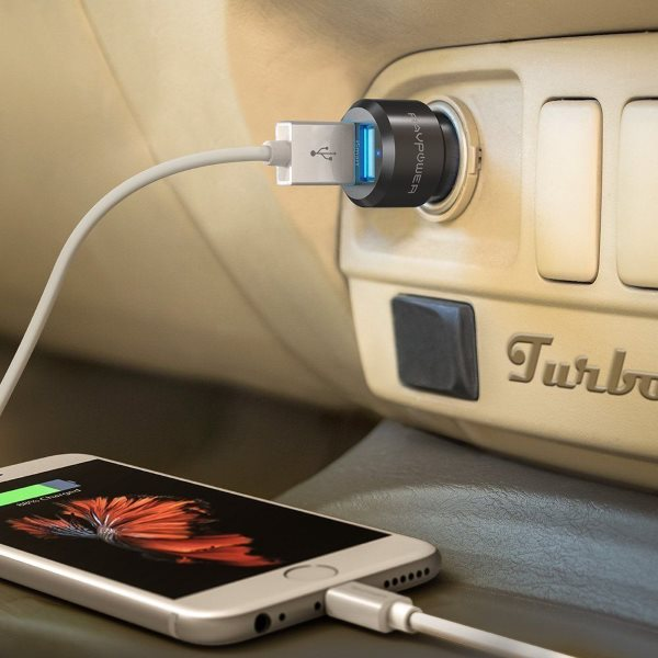 RAVPower billaddare 2 uttag i eluttag