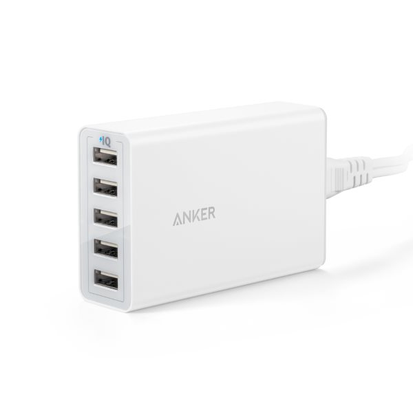 Anker Powerport 5 mobilladdare vit