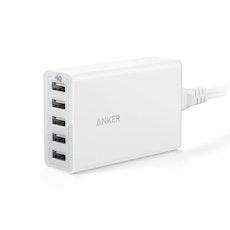 Anker PowerPort 5 - Mobilladdare med 5 uttag