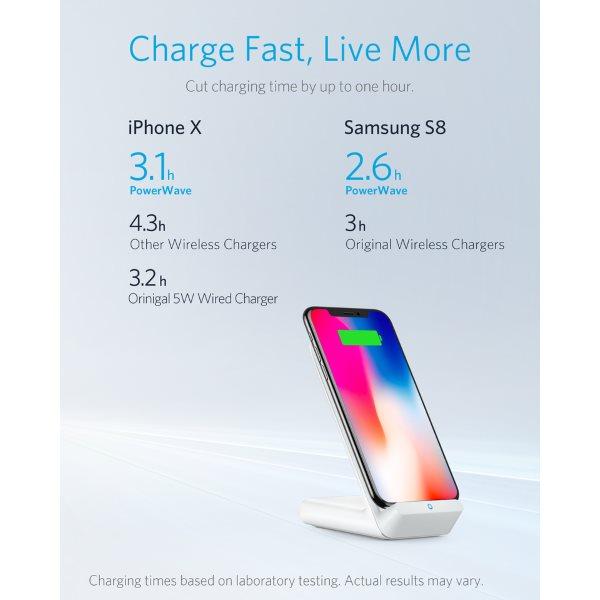 Anker PowerWave 7.5 Stand trådlös laddare Mobilladdare och powerbanker för alla mobiler