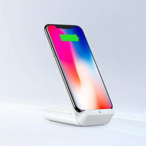 Ankwer PowerWave 7.5 Stand laddar iPhone snabbt