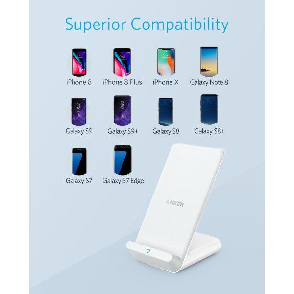 Ankwer PowerWave 7 5 Stand för alla telefoner med trådlös laddning