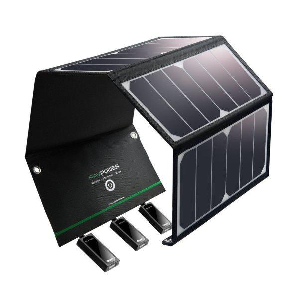 RAVPower Solcellsladdare 24W