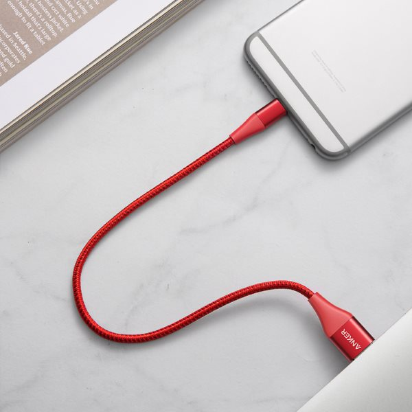 Anker PowerLine plus II 30cm röd iPhone och dator