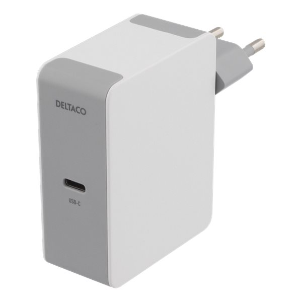 Deltaco USB-C laddare med 60W Power Delivery - vit